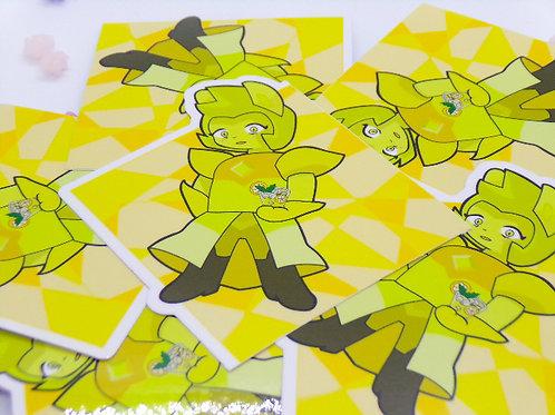 "Yellow 3.5"" Vinyl Sticker"