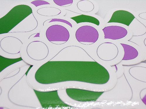 Gender Fluid Paw Vinyl Sticker
