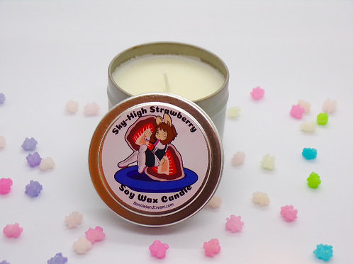 Sky High Strawberry Soy Candle