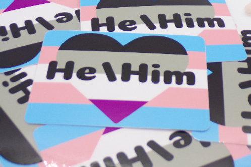 Ace Trans Pronoun Badge Vinyl Sticker