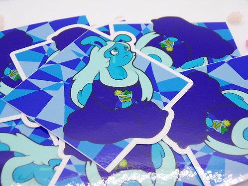 """Blue 3.5"""" Vinyl Sticker"""