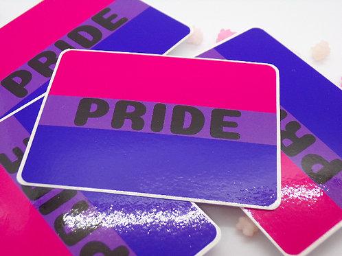 Bisexual Pride Badge Vinyl Sticker