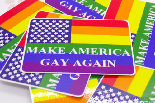 Make America Gay Again Badge Vinyl Sticker