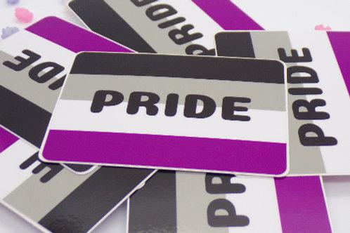 Ace Pride Badge Vinyl Sticker