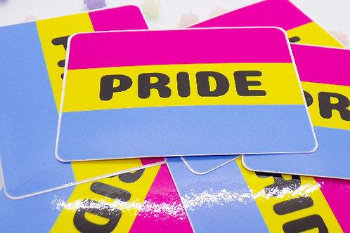 Pansexual Pride Badge Vinyl Sticker
