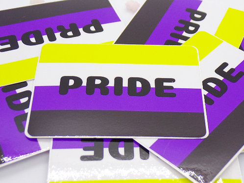 Non-Binary Pride Badge Vinyl Sticker