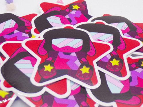 "Garnet 3"" Star Vinyl Sticker"