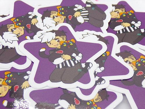 """Space Dad 3"""" Star Vinyl Sticker"""