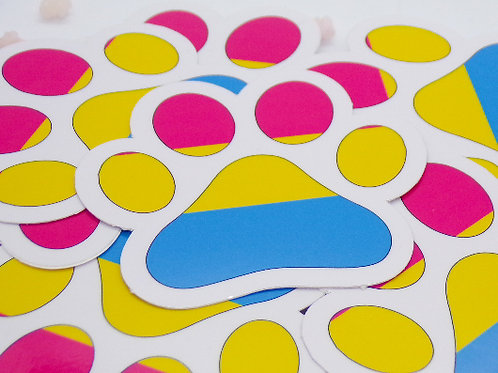 Pansexual Paw Vinyl Sticker