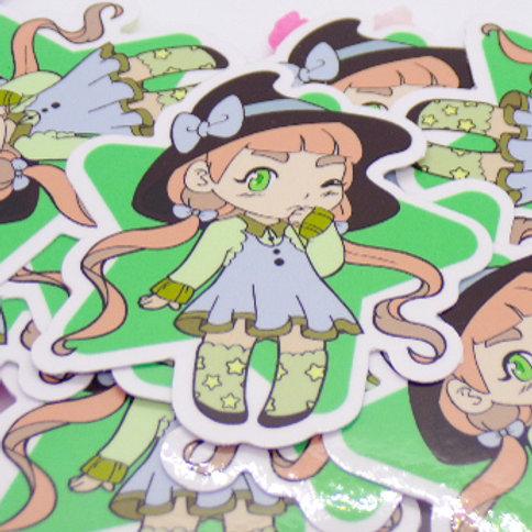Garden Witch Star Vinyl Sticker