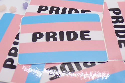 Transgender Pride Badge Vinyl Sticker