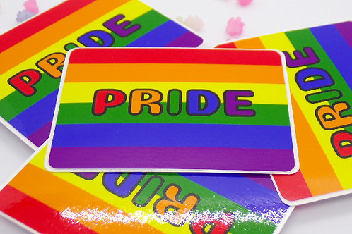 Gay Pride Badge Vinyl Sticker