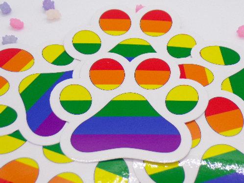 Gay Paw Badge Vinyl Sticker