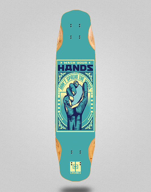 Cromic Covid Wash your hands longboard deck 38x8.45