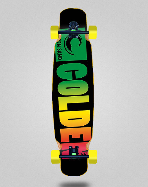Golden Sand Degraded rasta longboard dance complete 46x9