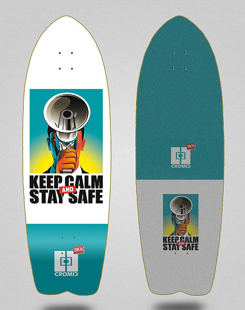 Cromic surfskate deck - Covid Keep calm 29 fish