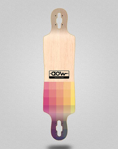 Aow Pixels longboard deck 40x9