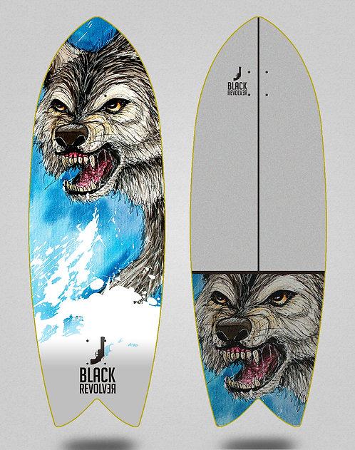 Black Revolver surfskate deck Acril Lobo 32 fish