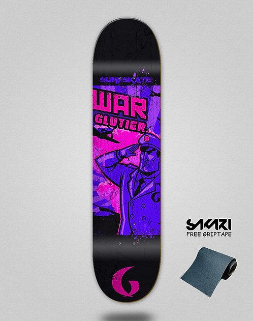Glutier War pink skate deck