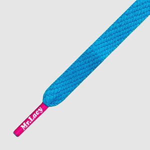 Mr lacy - cordones Flatties blue pink
