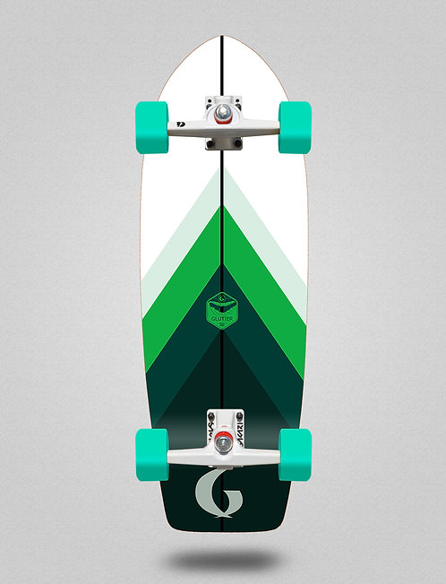 Glutier surfskate - Green style 29