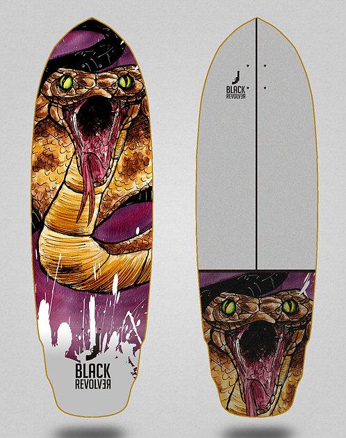 Black Revolver surfskate deck Acril Cobra 32 special