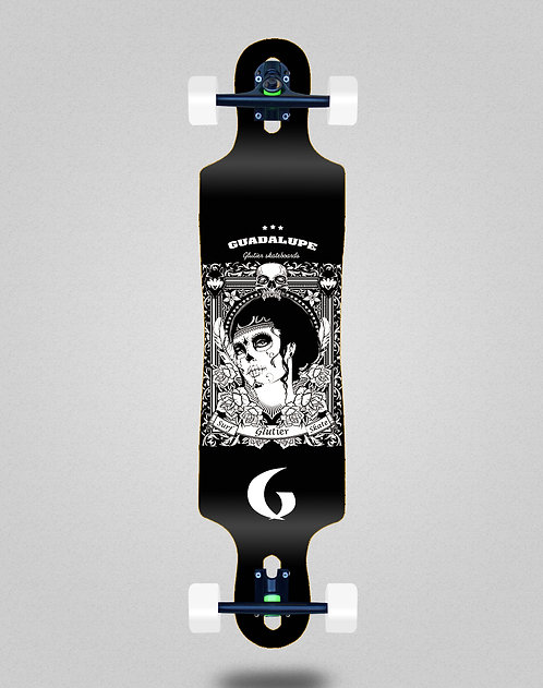 Glutier Guadalupe black longboard complete 40x9