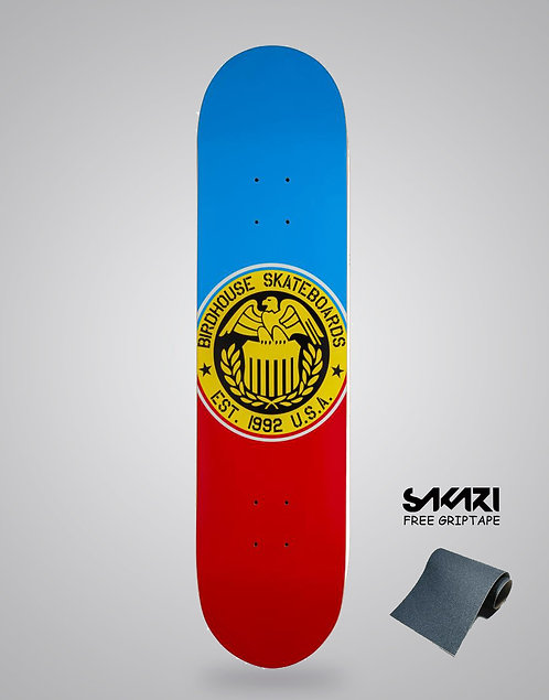 Birdhouse Logo Deck Eagle Logo Blue/Red 8.0