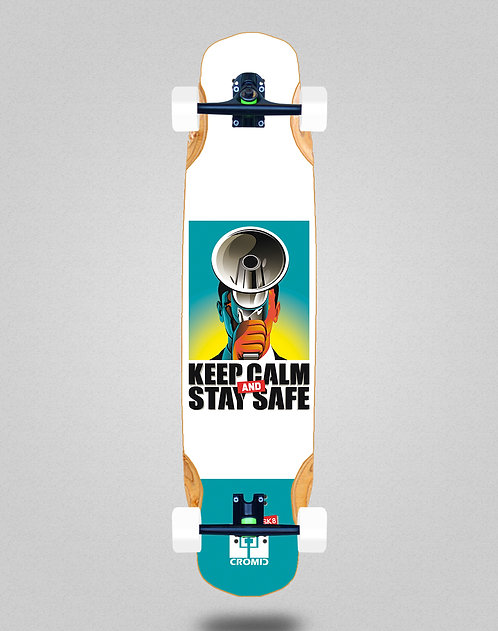 Cromic Covid Keep calm longboard complete 38x8.45