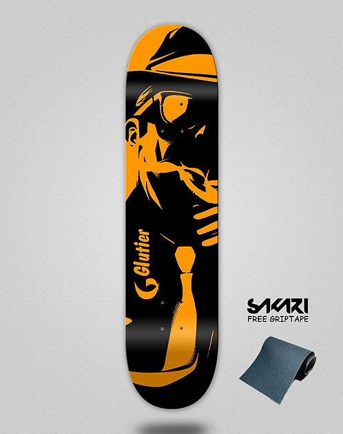 Glutier Mafia orange skate deck