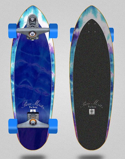 Cromic surfskate T12 trucks Logger Pierre Moritz Tie blue 32.5