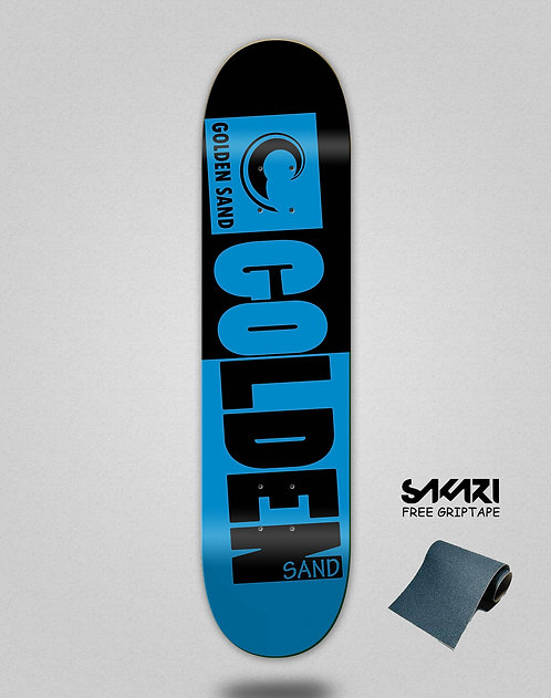 Golden Sand Degraded tone black blue skate deck