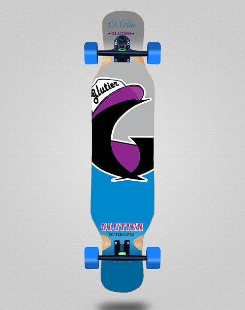 Glutier California blue longboard complete 46x10