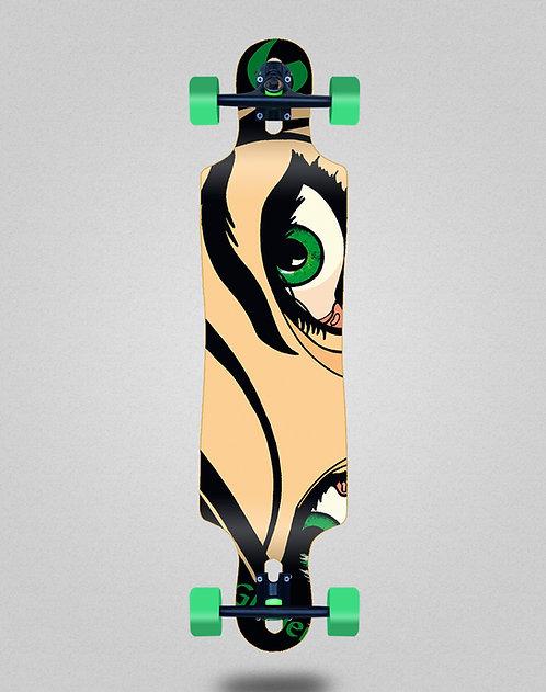 Glutier Drili eyes longboard complete 40x9