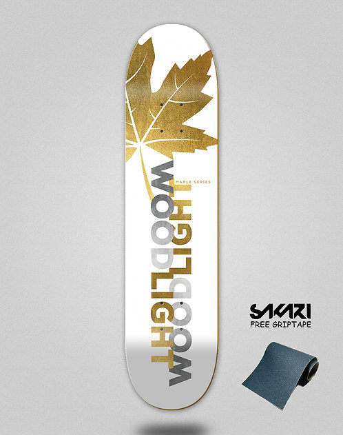 Wood light skate deck maple gold Ortiz