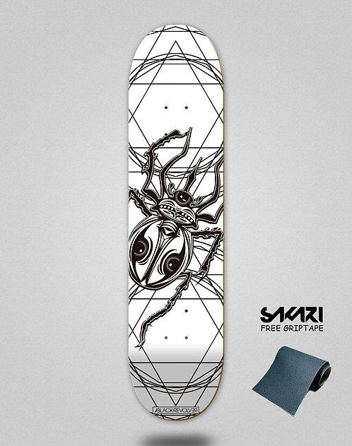 Black Revolver skate deck Insecta collective escarabajo white