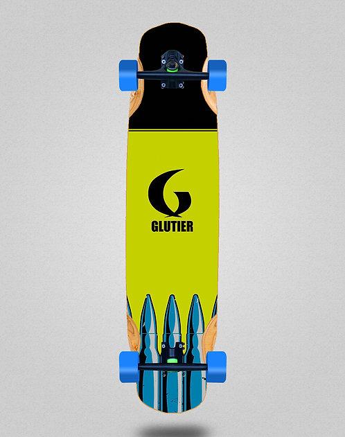 Glutier Bullets fluor longboard complete 38x8.45