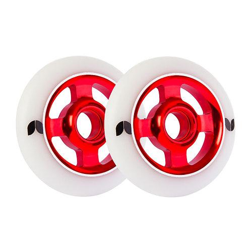 Blazer pro wheels 100mm spoke aluminium (set 2) red