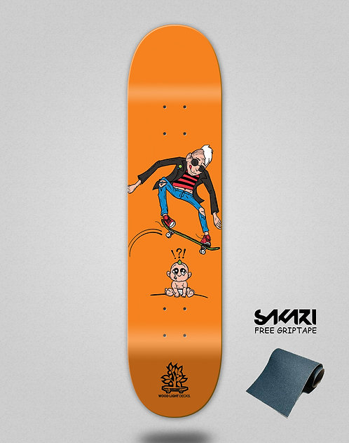Wood light skate deck Forall orange