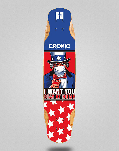 Cromic Covid I want you longboard deck 38x8.45