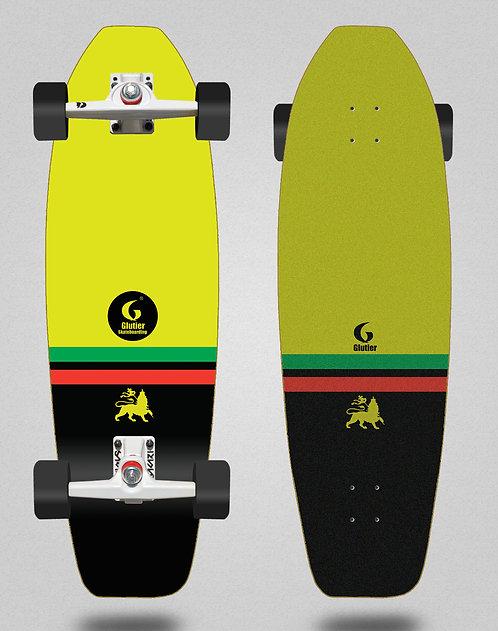 Glutier surfskate - Flame rasta 31,5