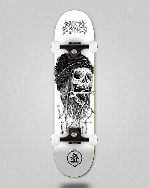 Wood light Back to bones Ortiz white skate complete