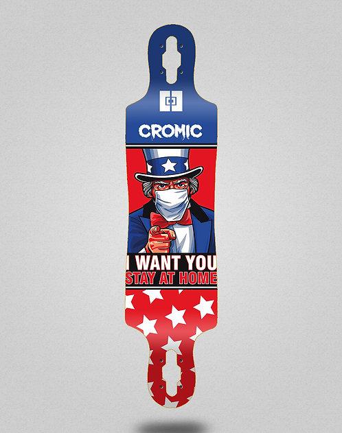 Cromic Covid I want you longboard deck 40x9