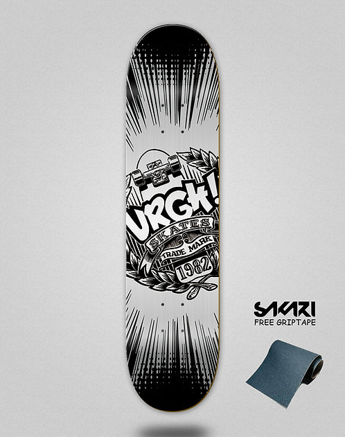 Urgh skate deck Trade black grey