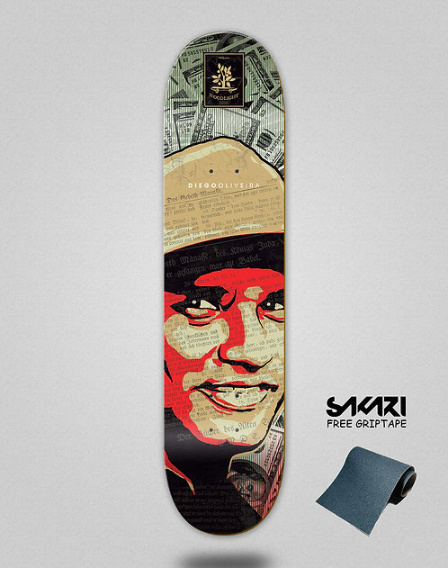 Wood light skate deck Oliveira pro cash