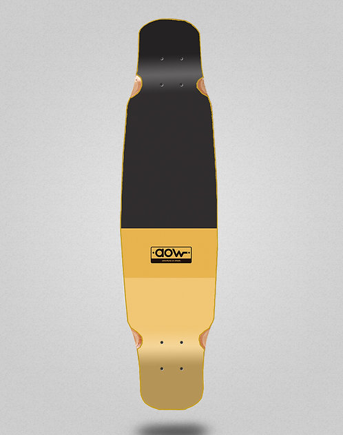 Aow Fastskate classic yellow longboard deck bamboo dance 46x9