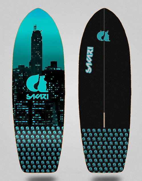 Sakari surfskate deck - City blue 29