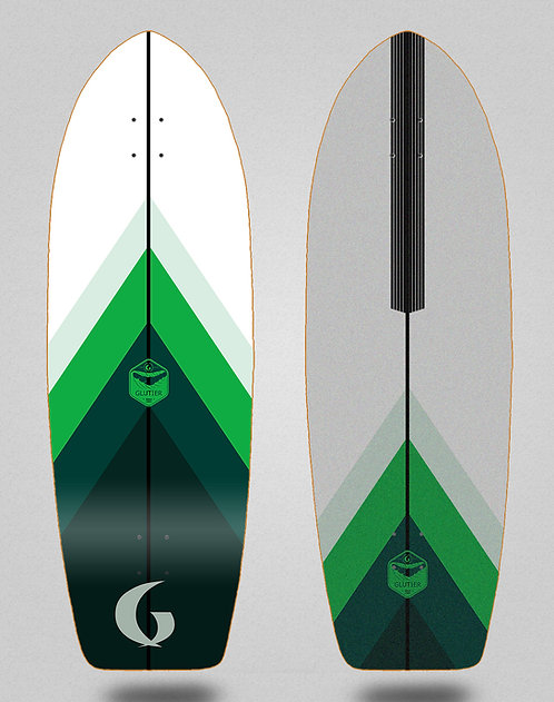 Glutier deck - Green style 30 Fat tail