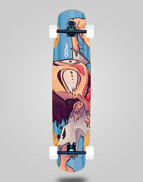 Aow Fastskate blue longboard complete 38x8.45