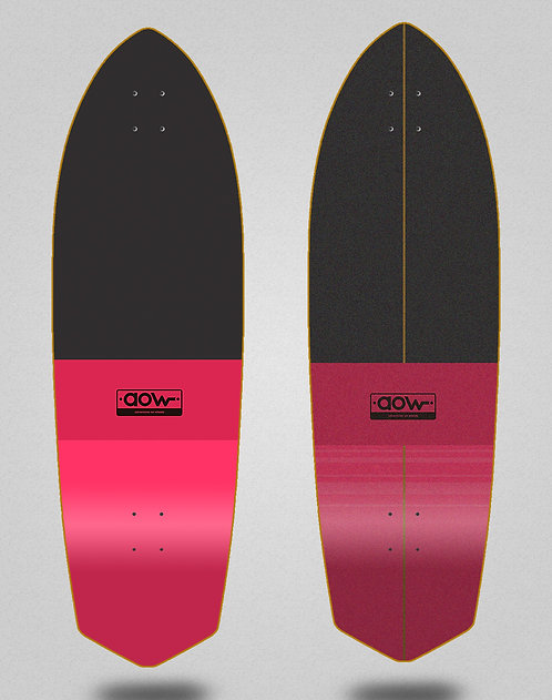 Aow surfskate deck Fastskate classic red 33